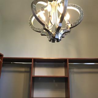 I used 40 watt bulbs & still provides a lot of light!