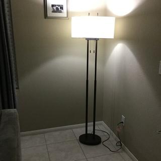 Roscoe Bronze Twin Pole Floor Lamp 1k790 Lamps Plus