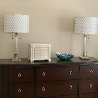 Perfect combination for our bedroom dresser. Thank you Lamps Plus!!