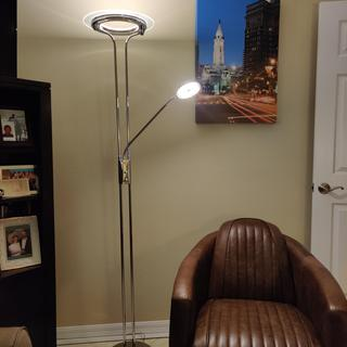 Love this lamp well made, sturdy with great style works well for ambiant lighting and for reading.