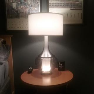 Both night light and lamp on