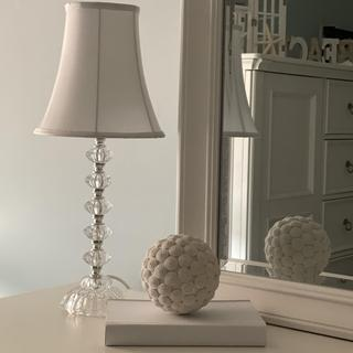 Bohemian Clear Stacked Table Lamp