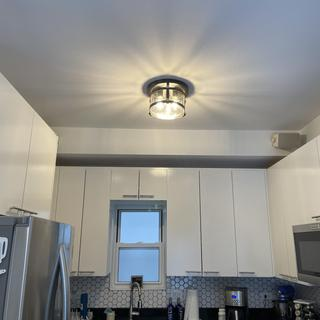 Added to our kitchen in our new house. Provides great light and looks beautiful. Easy to install.