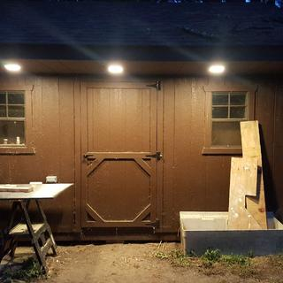 I put six of these on my Fawn Shed. Easy to install, Plenty of light