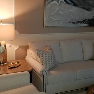 Family room Possiini Champagne Gold lamp
