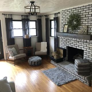 Cozy living room with just right amount of light