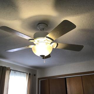 White Glass CFL White Finish Ceiling Light Kit