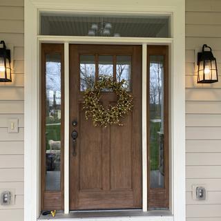 Front door lights updated