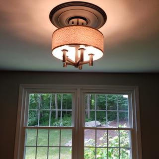 Provides nice light in a  13 x15 sqft room