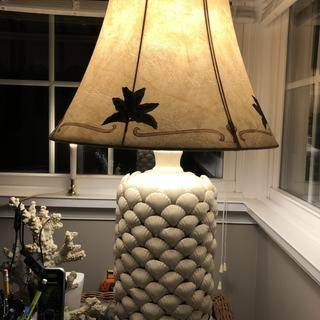 I converted this jug it into a lamp. This shade compliments it nicely.