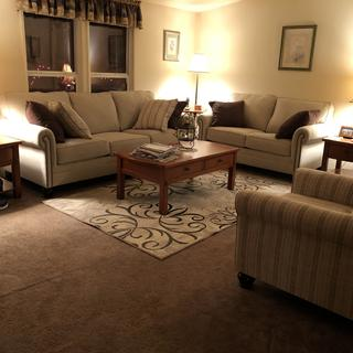 All 3 new lamps with our new furniture.