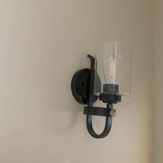 Love this light fixture! Looks great in small walkway to bedroom!
