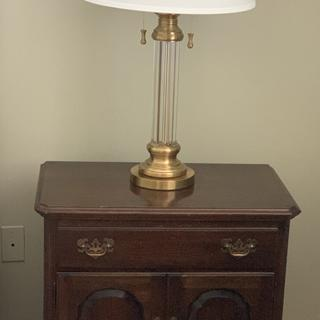 I bought 2 of these lamps, one for each bedstand; they add a beautiful, classic look to the room.