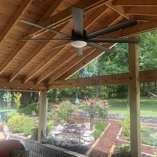 65 inch Minka Aire Slipstream Coal Black Outdoor LED Ceiling Fan