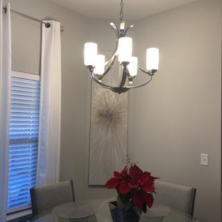 Installed above dinette table