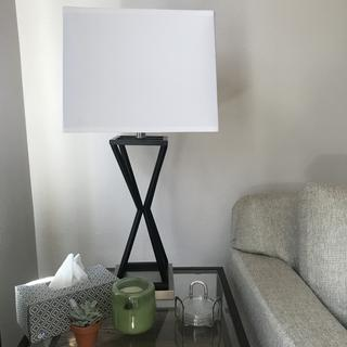 Very bright when paired with 150 watt equivalent LED bulb. Perfect for my dark living room.