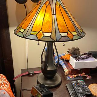 Closer view of single lamp