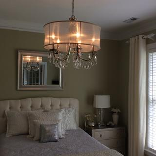 Beautiful chandelier, a conversation piece, absolutely beautiful, makes a statement for sure.