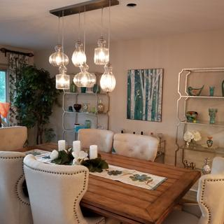 So different from what I have seen before. I love this chandelier!
