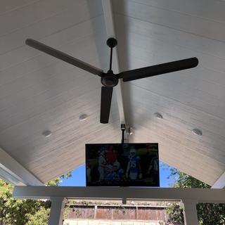Moves a lot of air - great fan for a patio