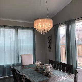 Added just enough glam for our dining room to really make it pop!