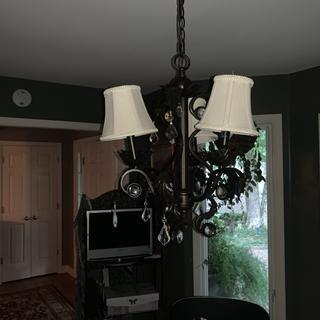 Lights aren't straight