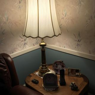 One of two table lamps - all in the same room.