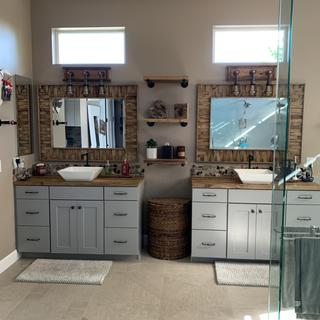 We are so happy with this purchase. These mirrors are beautiful!