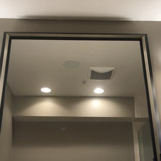 Sconces on both sides of the mirror