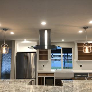 Loving our new pendant lights for our remodel!