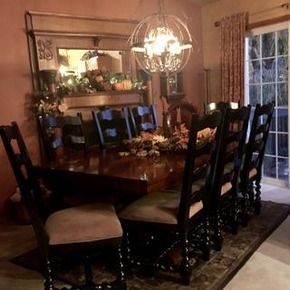 Dining Room Lighting Makeover
