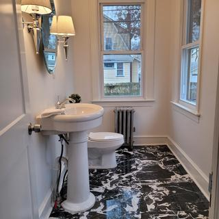 Perfect for this glam powder room I designed!