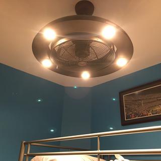 "Possini Euro Segue 24"" Wide Bronze 5-Light LED Ceiling Fan safe option for a small room"