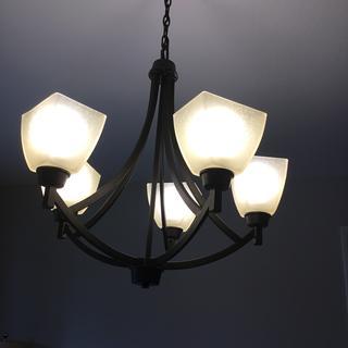 Installed chandelier