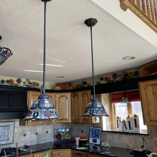 Have 4 of the pendant lamps. The decorative piece broke on 3 of them.