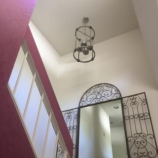 View from bottom of the staircase