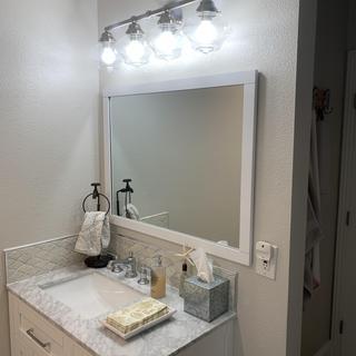 Bathroom light fixture!