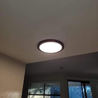 Light installed turned on.