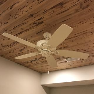 Looks great with our pecky cypress ceilings. Love it.