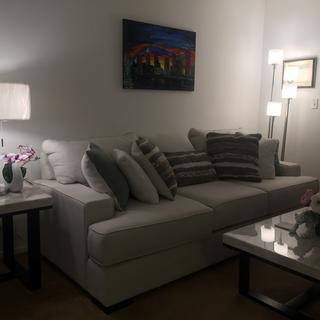 I love my beautiful floor lamp from Lamps Plus. ??