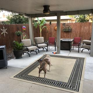 Brand new patio cover and fan