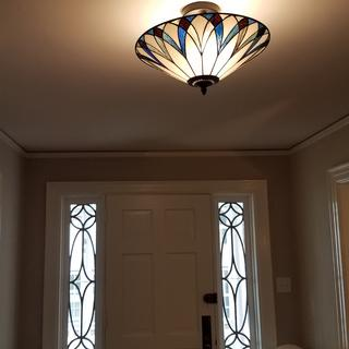 Love the lamp!  Better than expected.  Easy install and fits in great in my old home.