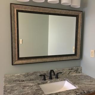 Nice look to vanity area!