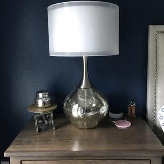 Lamp should be showcased on a large end table/nightstand.