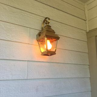 My new porch light from LampsPlus.