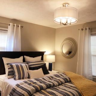 Simply exquisite! This put the touch I needed for a guest room. Would suggest a dimmer switch.