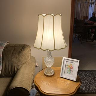 A nice lamp shade for a very sentimental lamp. ??