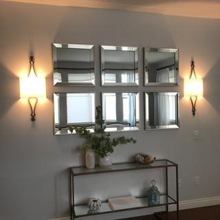 Beautiful.  Love these sconces.  They look better than the picture!
