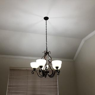 Chandelier above my dining room