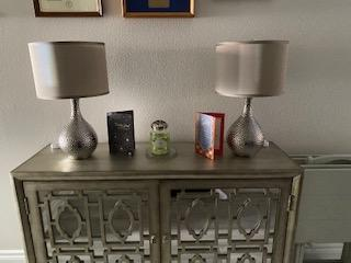 Love these lamps, put them on a dimmer switch, perfect & gorgeous!